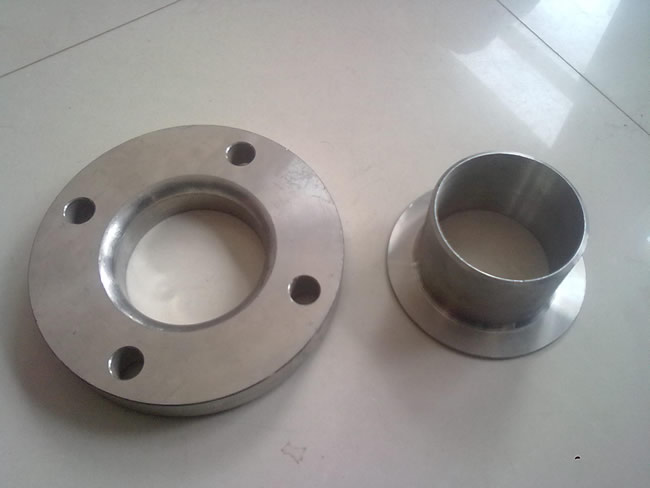 With welding neck flanges